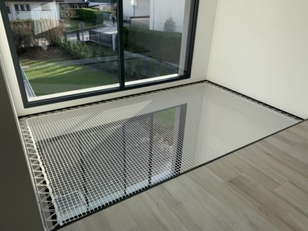 Filet de protection mezzanine noir moderne